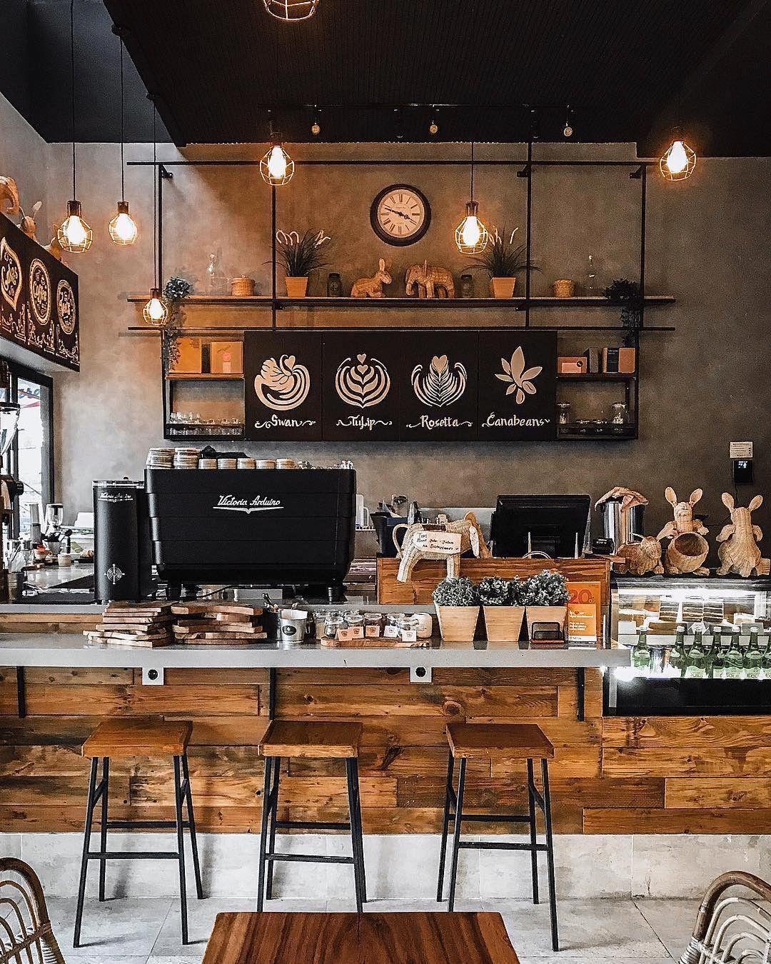 Induuatrial | Coffee shop decor, Coffee shop interior ...