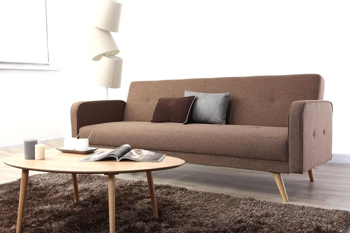 Canap Convertible 3 Places Design Scandinave Camel Ulla Miliboo