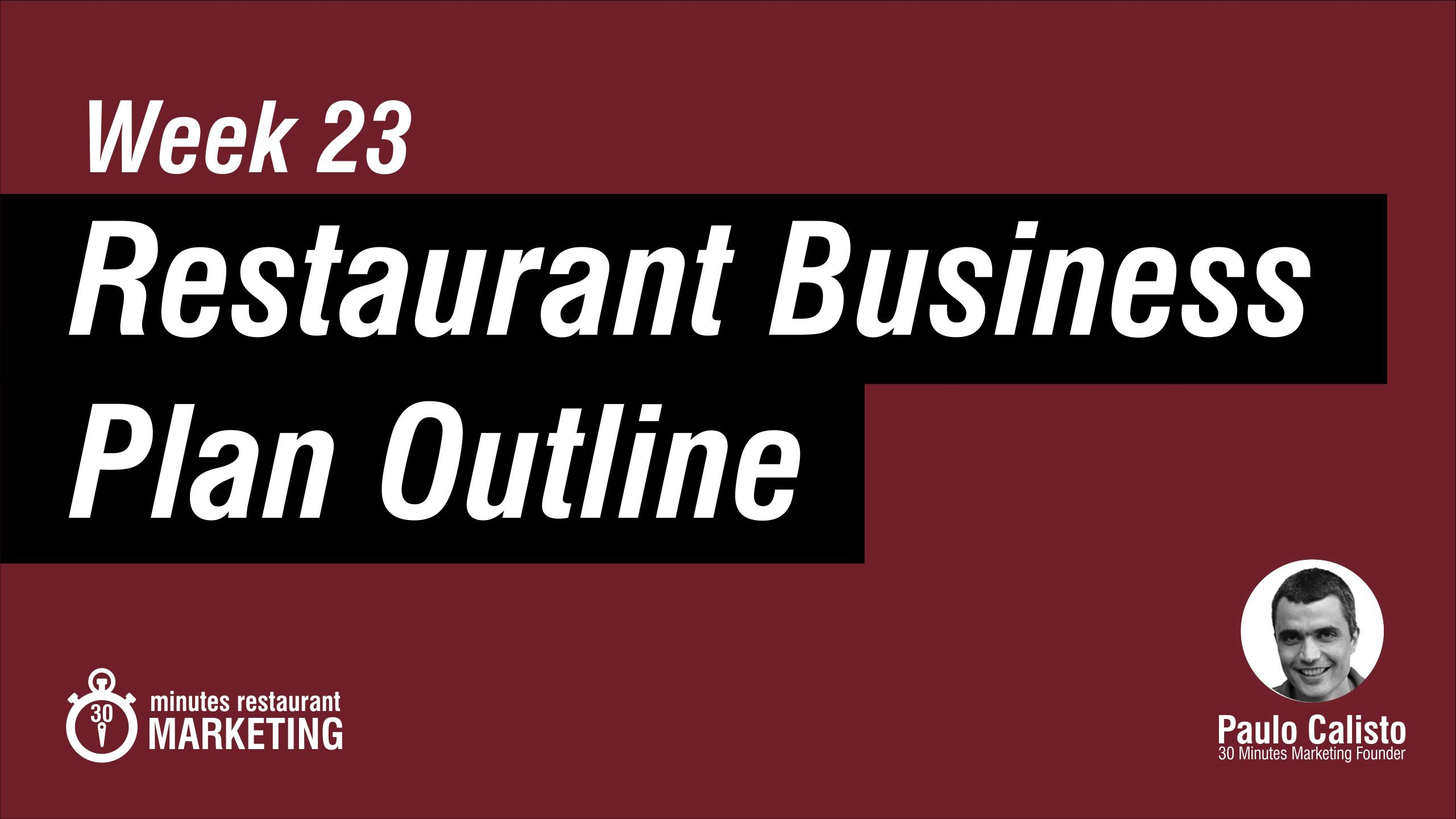 Restaurant Business Plan  Pdf Checklist To Download