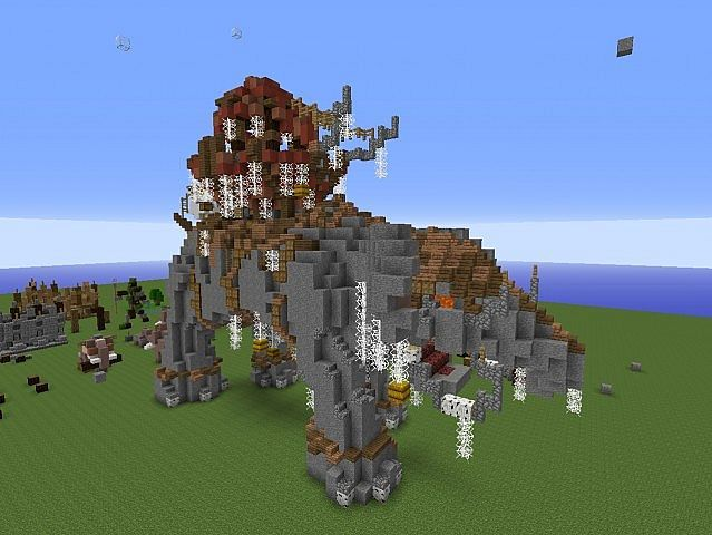 Lord of the Rings elephant Minecraft Project | Minecraft