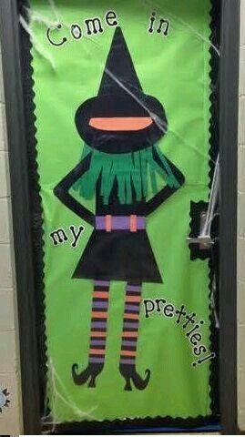 Halloween door decoration Dia de brujas decoracion Brujas