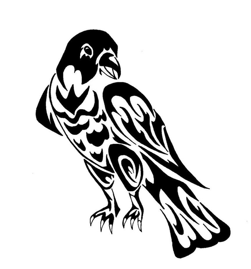 tribal falcon by oukami4 on deviantart tribal art pinterest falcons tattoo and tattoo art. Black Bedroom Furniture Sets. Home Design Ideas
