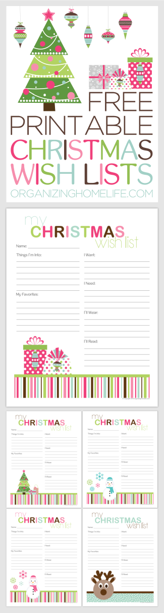 free printable christmas wish lists holidays christmas kids