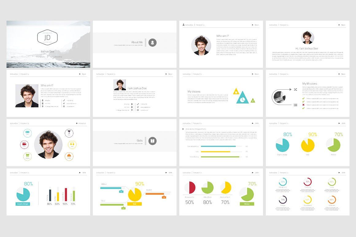 Personal Cv Powerpoint Template Powerpoint Templates Powerpoint Templates