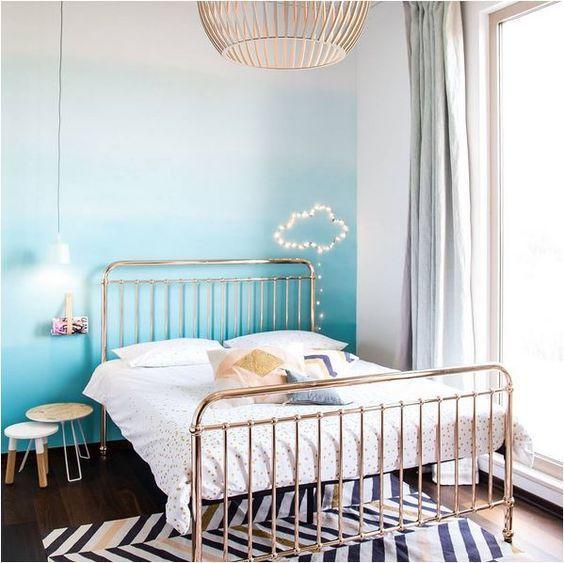 Du tie and dye sur vos murs Bedrooms - couleur gris perle pour chambre
