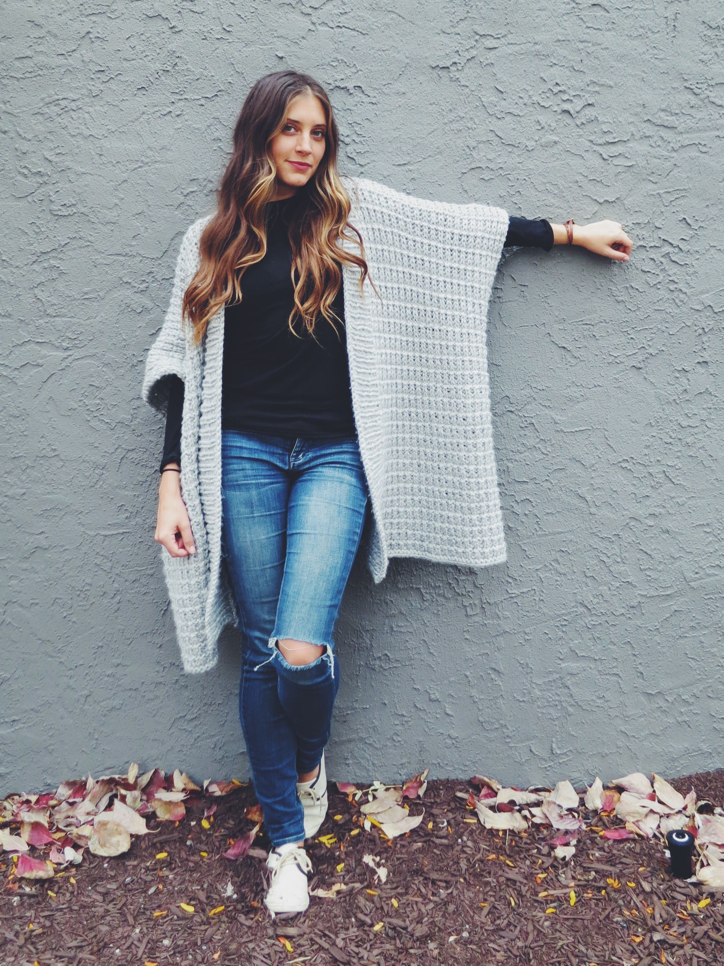 Cloaked in Clouds Poncho pattern // soft cozy blanket poncho // free ...