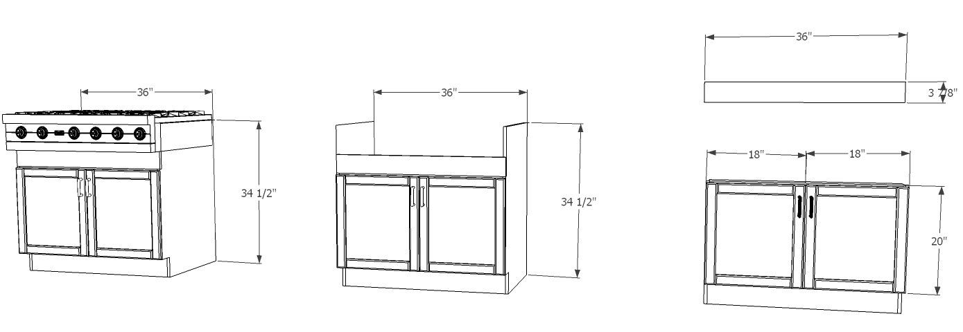 Ikea Kitchen Hack A Base Cabinet For Farmhouse Sinks And Deep Cooktops Farmhouse Sink Base Cabinets Ikea Kitchen