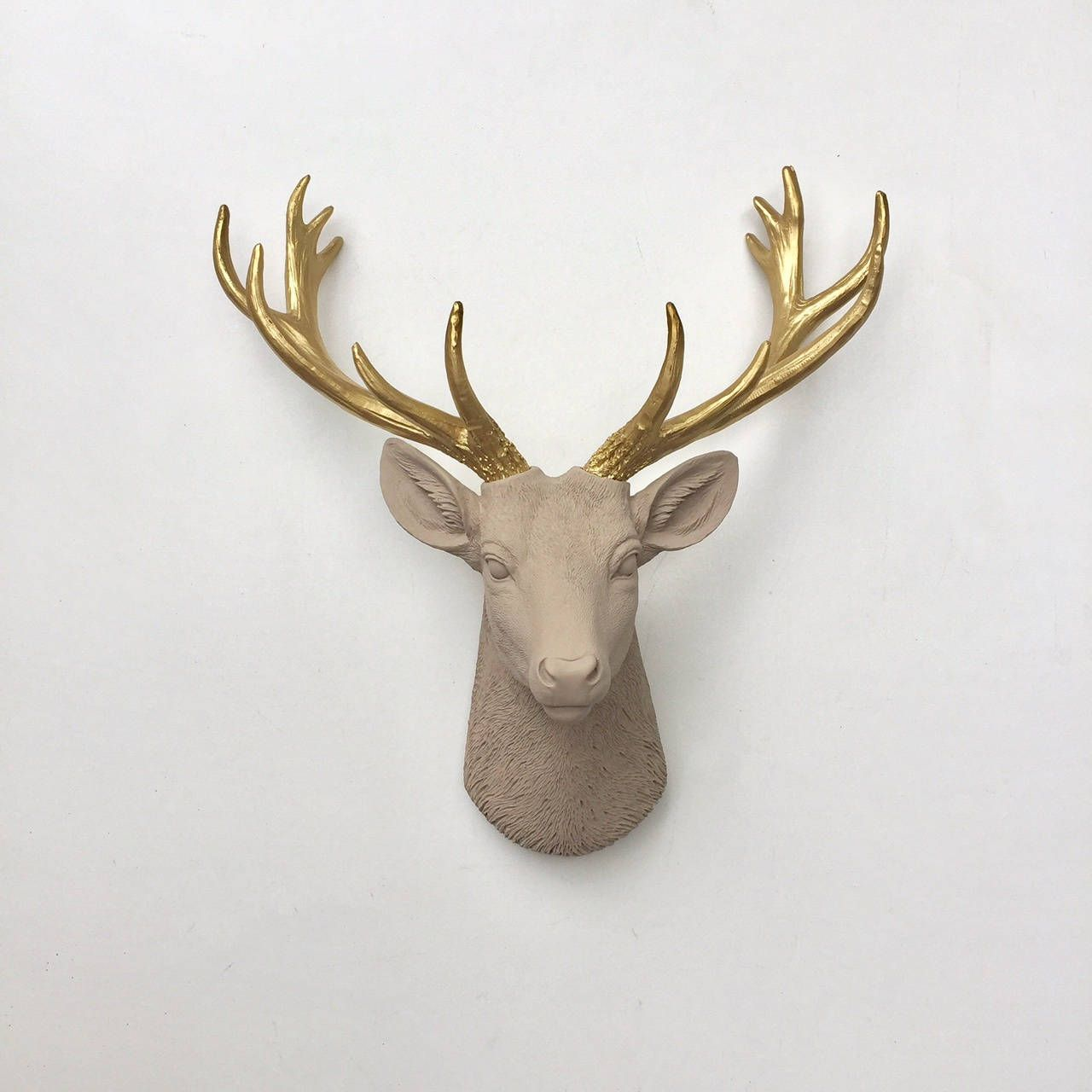 Any Color Or Patina Deer Head Wall Mount Faux Taxidermy Antler Rack Fawn Hunting Decor Woodland Nursery Boy Girl Gift Fake Deer Heads Wall Deer Head Faux Taxidermy