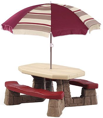 Step2 Naturally Playful Picnic Table With Umbrella Step2 Toys