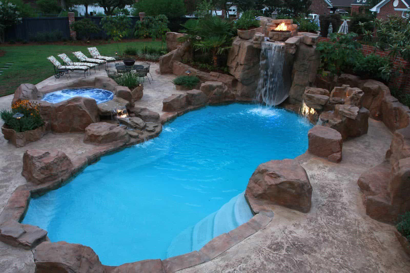 The Benefits Of Saltwater Pools Backyard Pool Cost Small Backyard Pools Backyard Pool Designs