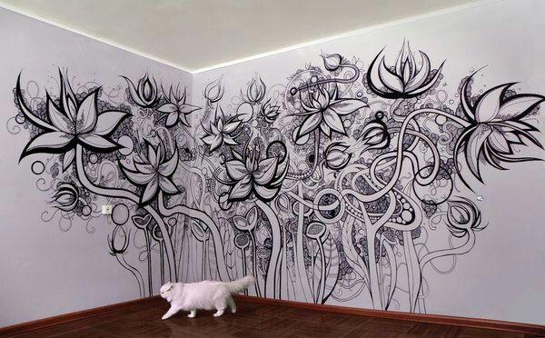 Pin By Lynn Kral On Wall Artttt Wall Drawing Mural Art Wall Painting