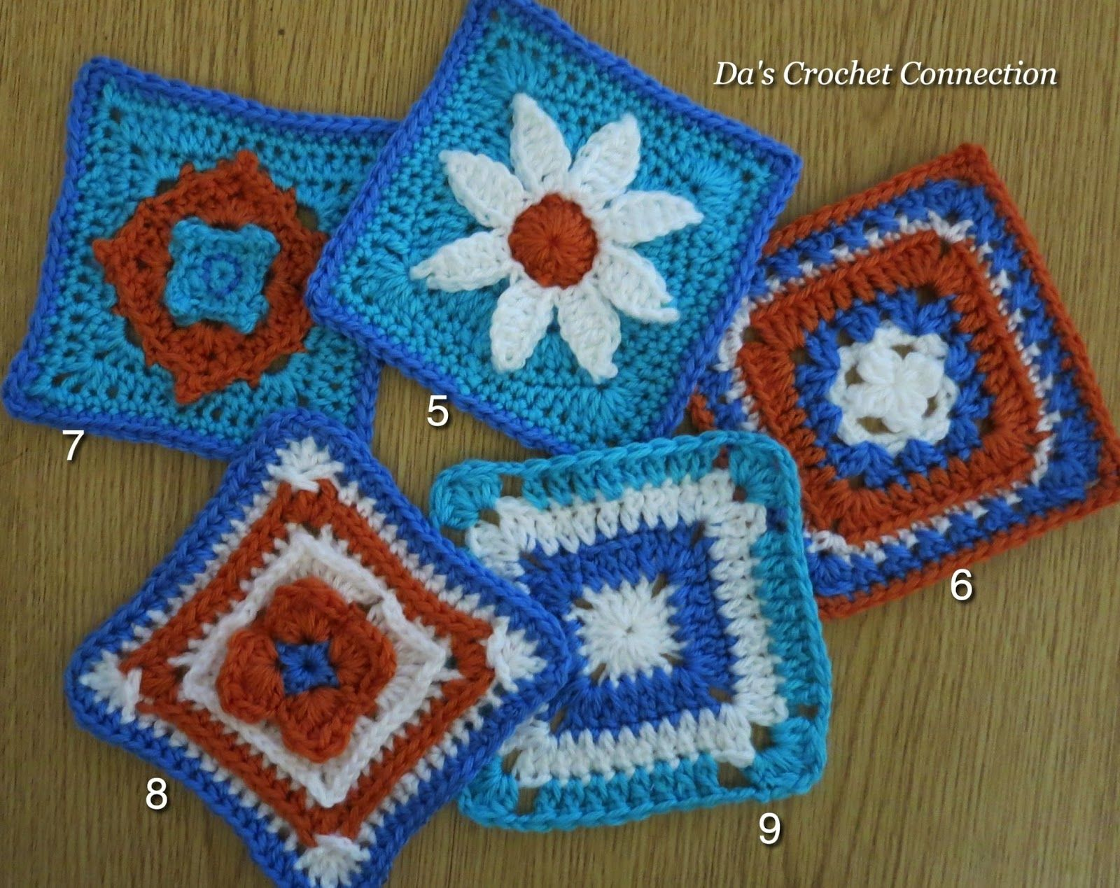 Mystery Lapghan CAL squares by Da\'s Crochet Connection Check out the ...