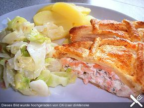 Photo of Puff pastry filled with salmon from Inichen   Chef