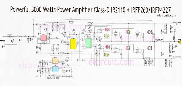 5000 watts amplifier schematic diagrams 3000 watts power amplifier class d mosfet irfp260 irfp4227 in  3000 watts power amplifier class d