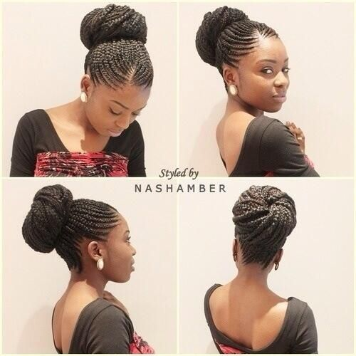 Braided updo...really chic and could be worn in a sophisticated way...