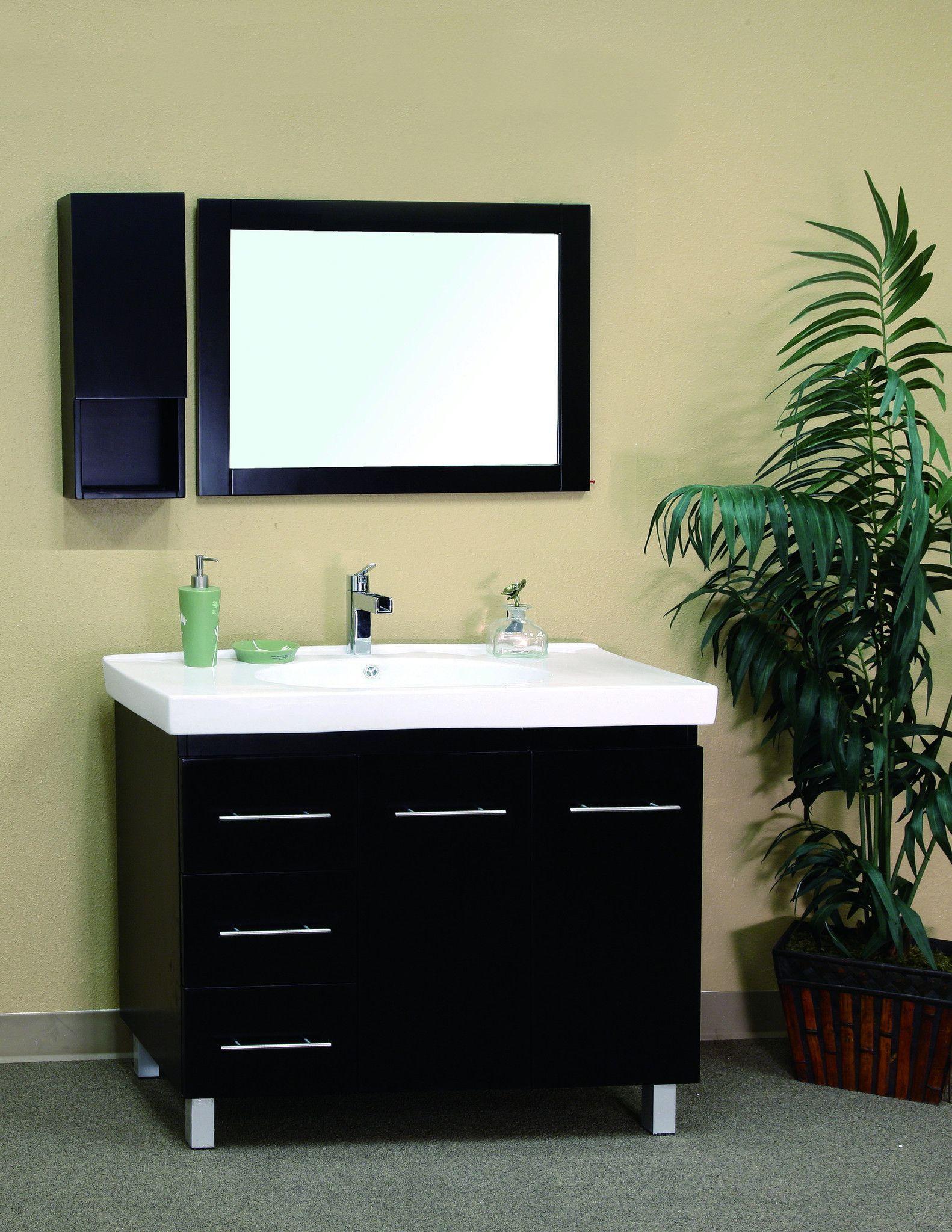 Bathroom vanities in single sink vanity wood black left side
