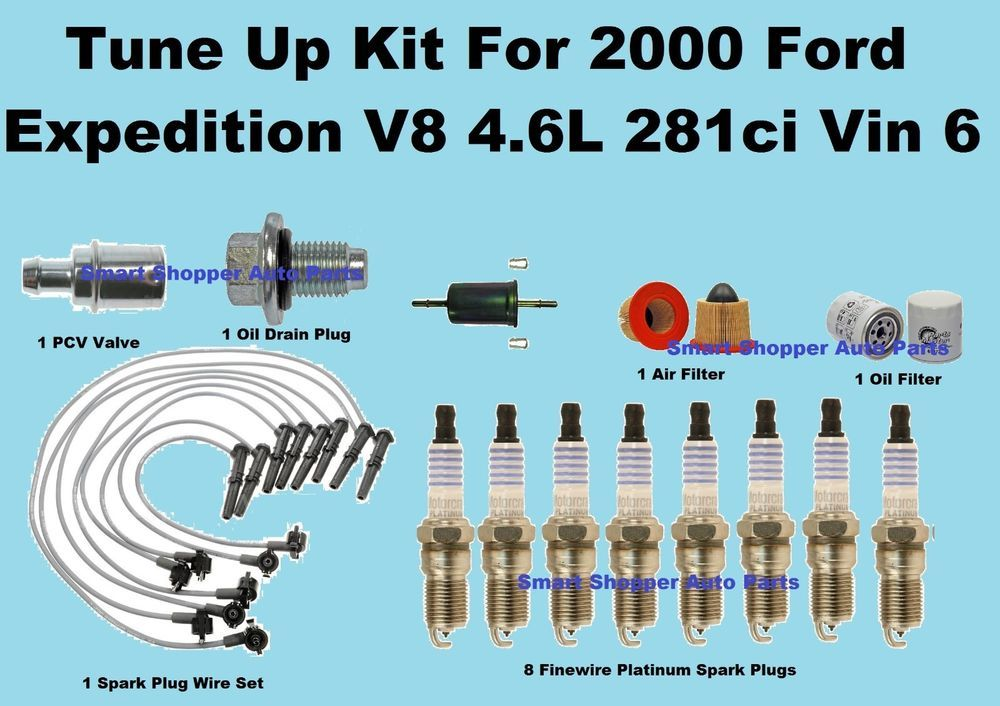 2000 Ford Expedition Spark Plug Wire Set, Oil Air Fuel Filter,PCV ...