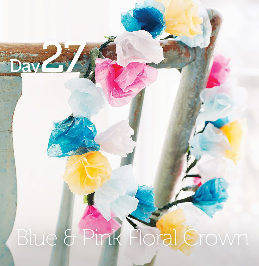 Dyed Paper Flower Crown Celebrating 35 Days Of The Crafts Through