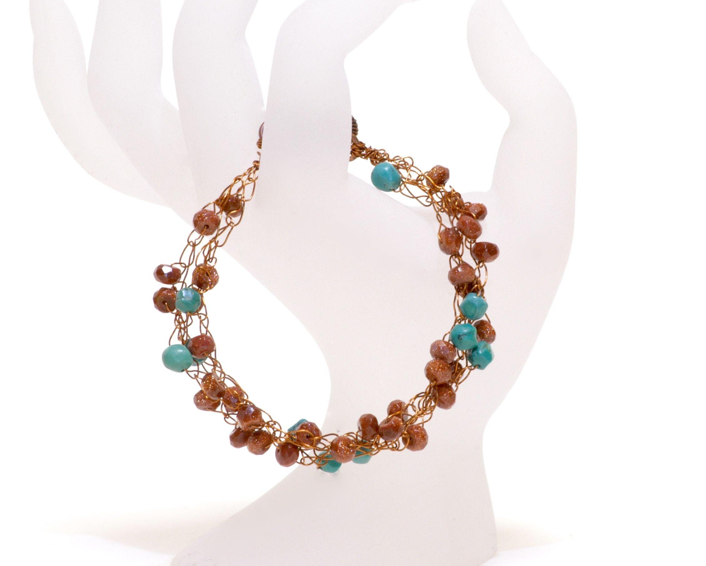 Copper Wire Crochet Bracelet | Jewelry I make | Pinterest | Handmade ...