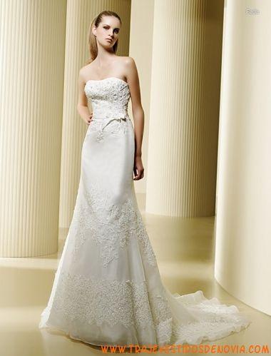 Fada  Vestido de Novia de organza La Sposa 2012