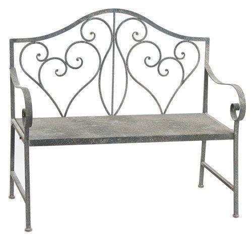 Magnificent Rustic Metal Garden Bench Garden Bench Metal Garden Bralicious Painted Fabric Chair Ideas Braliciousco