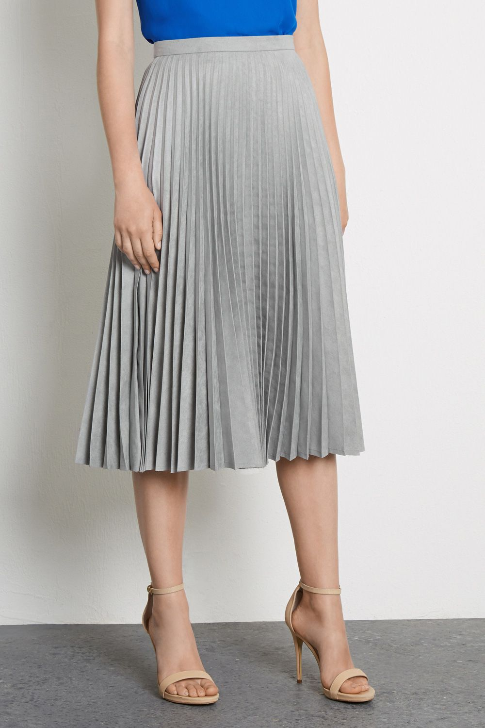MOLESKIN PLEATED MIDI SKIRT | Fashion : Products | Pinterest ...