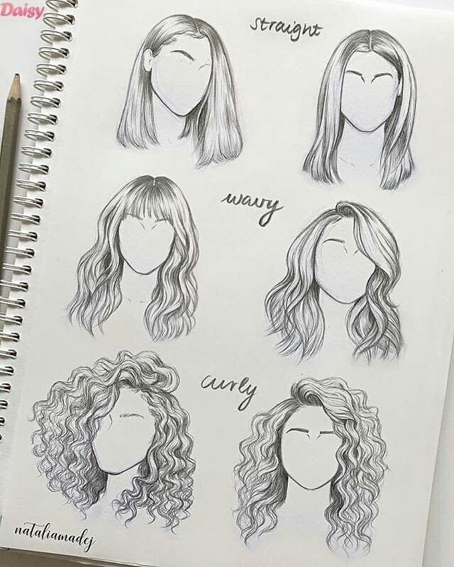 15 Amazing Hair Drawing Ideas & Inspiration