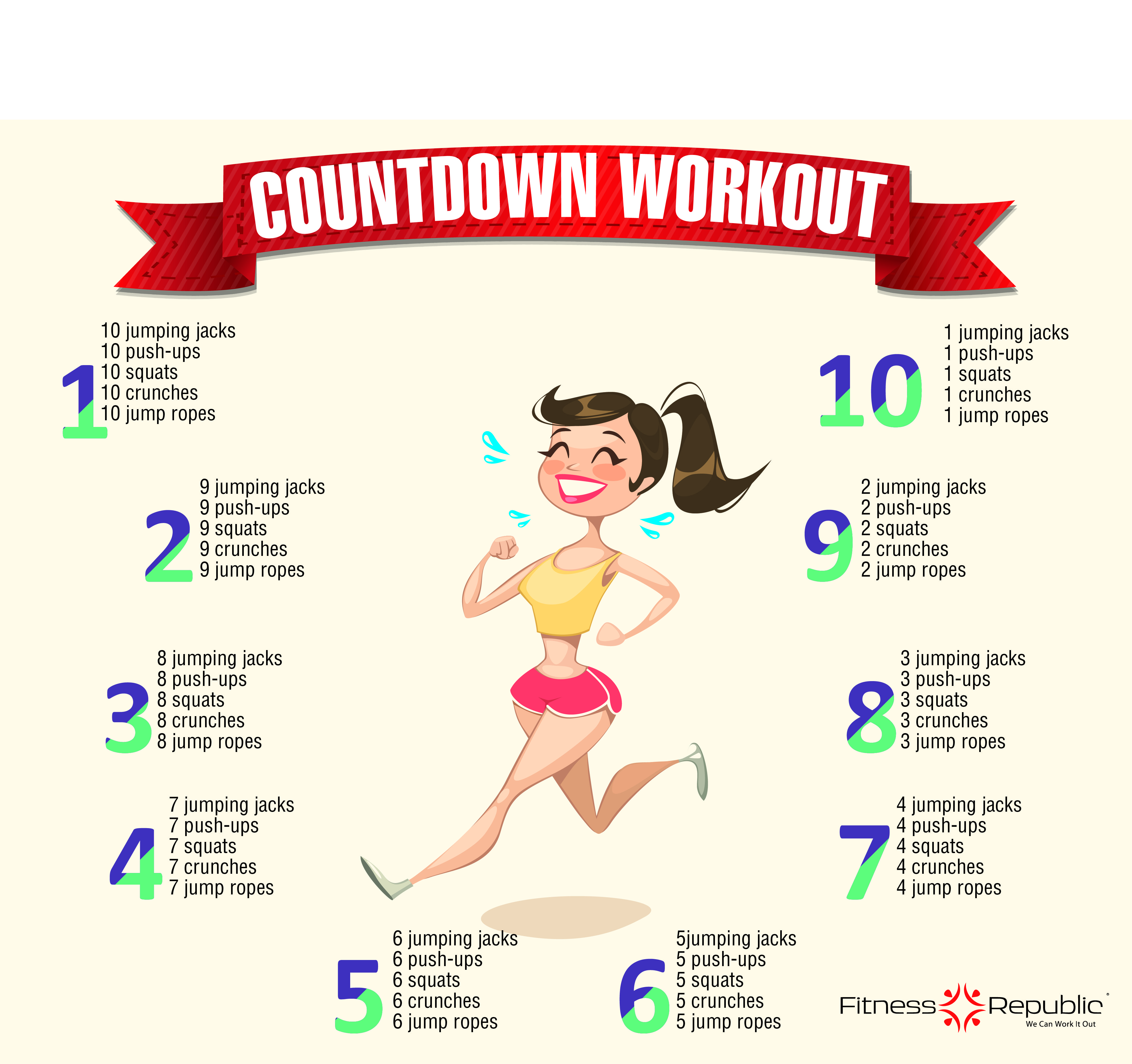 Countdown Workout We Got Your Flat Belly Workout Right