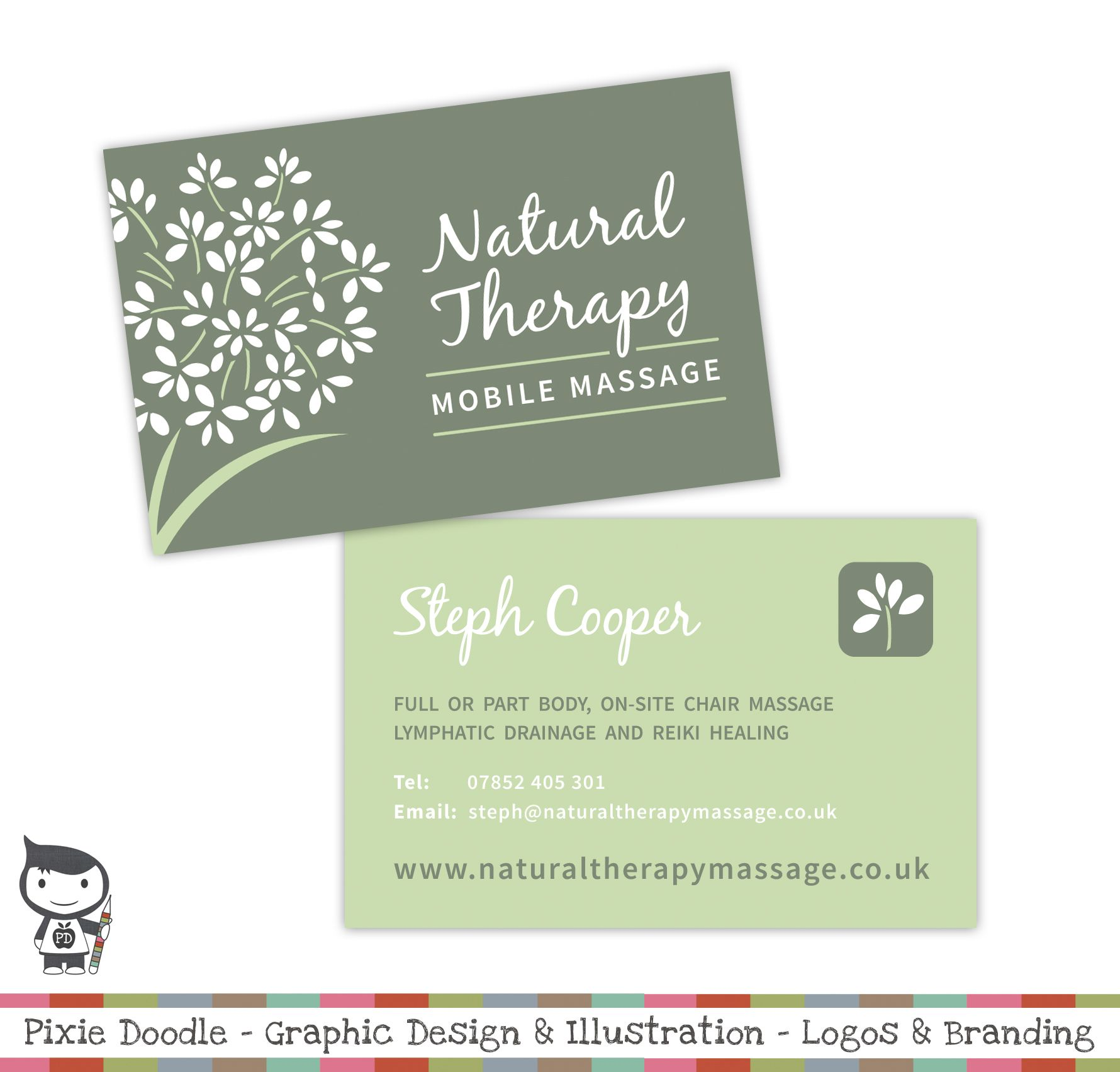 Natural Therapy Massage Logo Design By Pixiedoodle