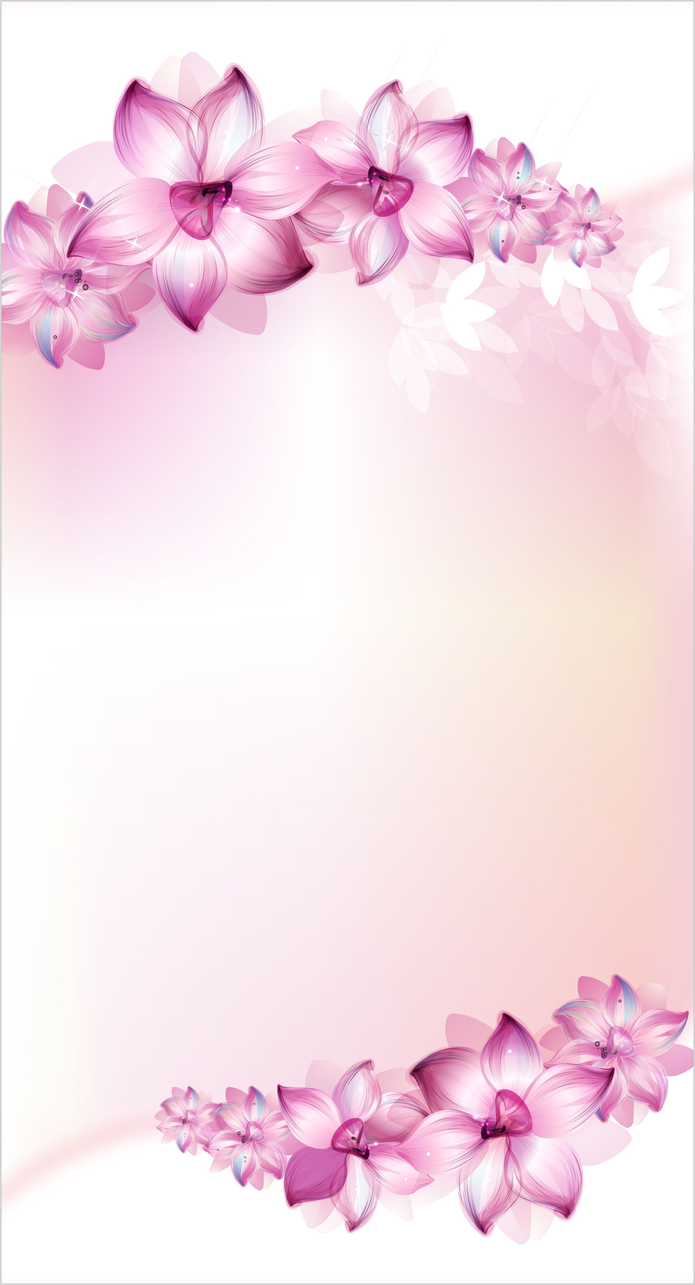 Purple Flowers Poster Background