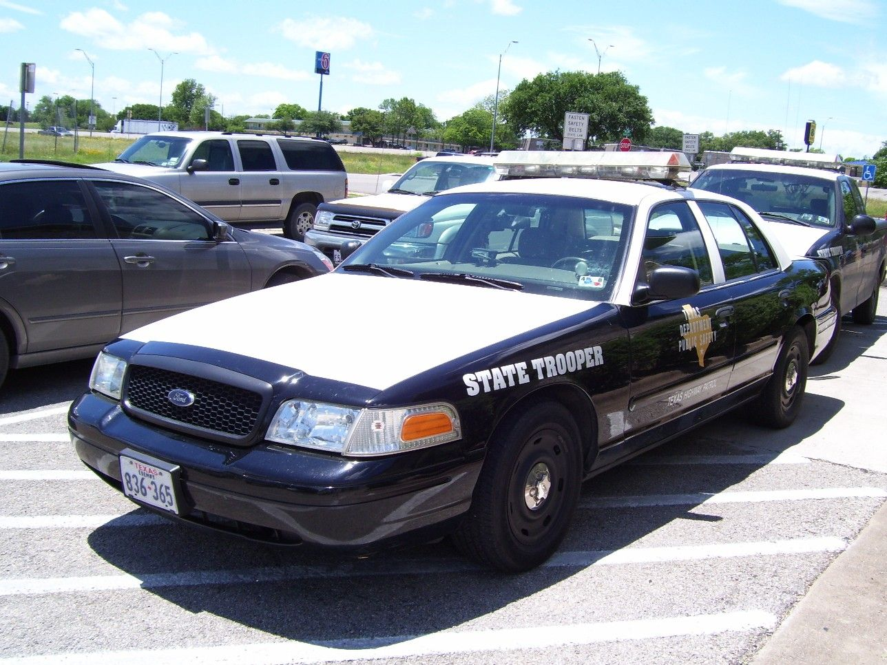 TX Texas Department of Public Safety Police cars