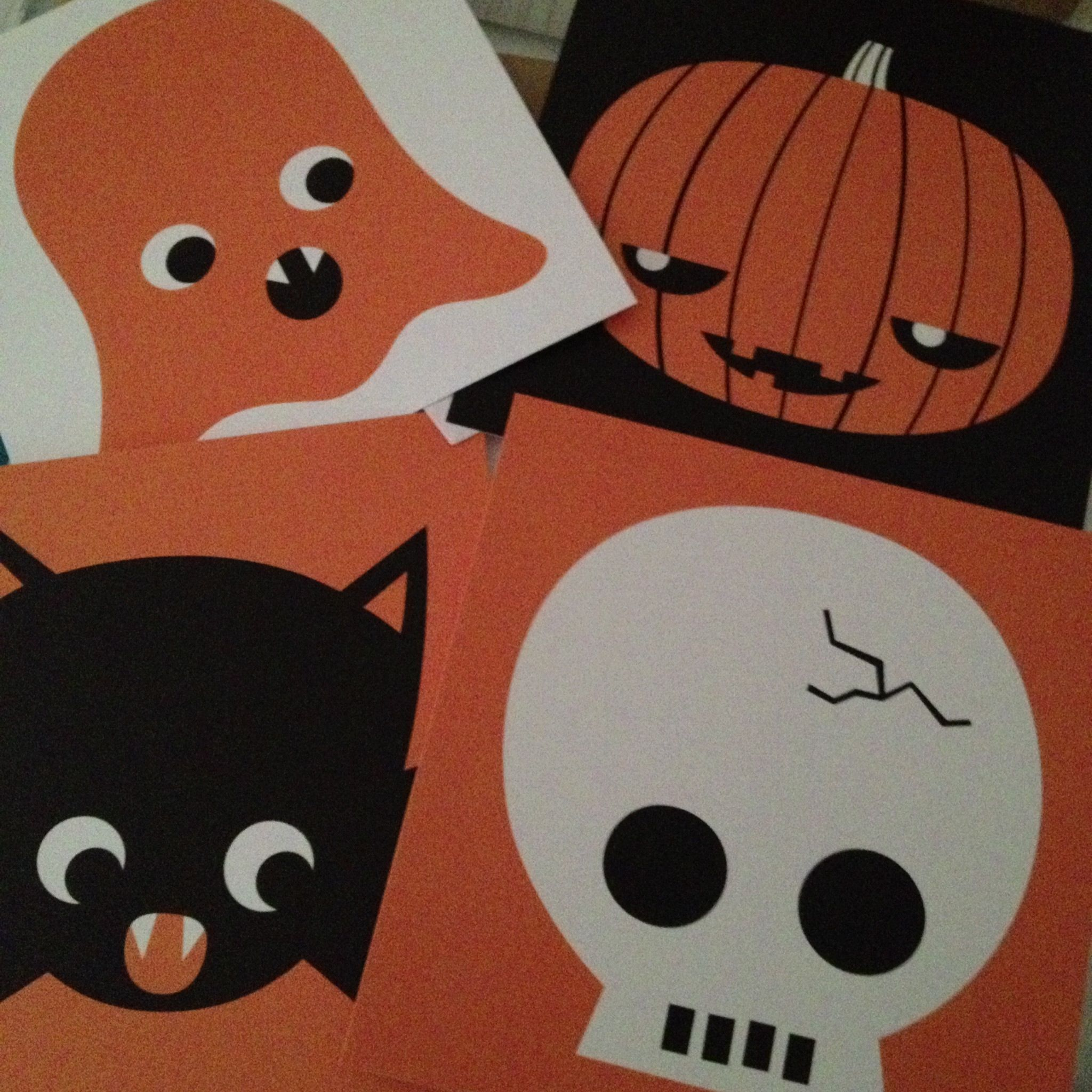 Lovely Halloween cards by Anna Lindsten.