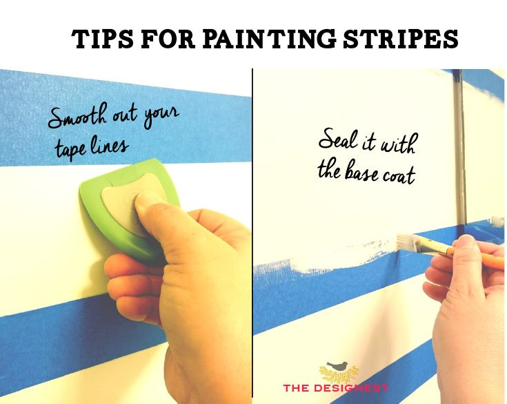Painted stripes in teen bedroom decor
