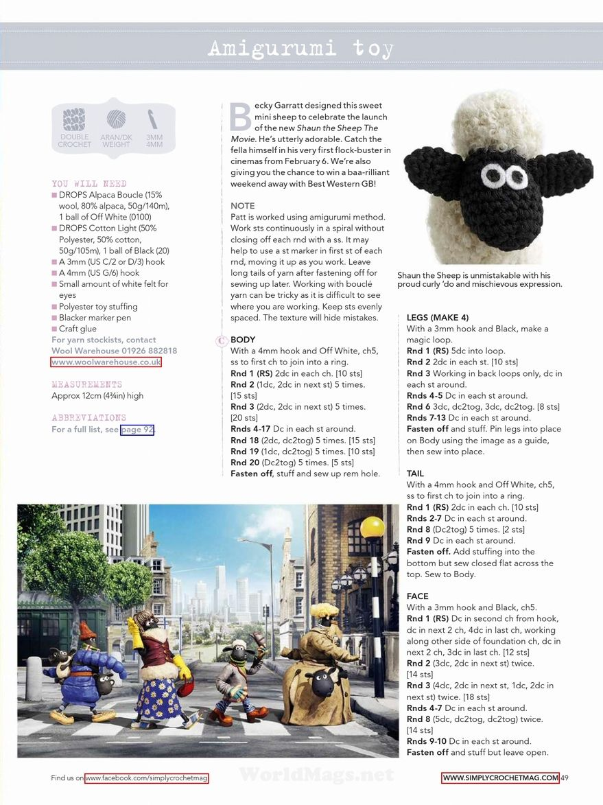 Shaun-the-Sheep-Crochet-Toy-Pattern-1.jpg (879×1173) | amigurumi ...