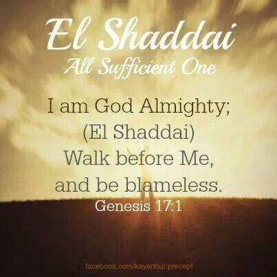 15 El Shaddai ideas | names of god, god almighty, scripture