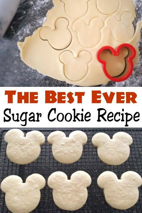 The BEST Sugar Cookie Recipe - The Mommy Mouse Clubhouse #sugarcookierecipe
