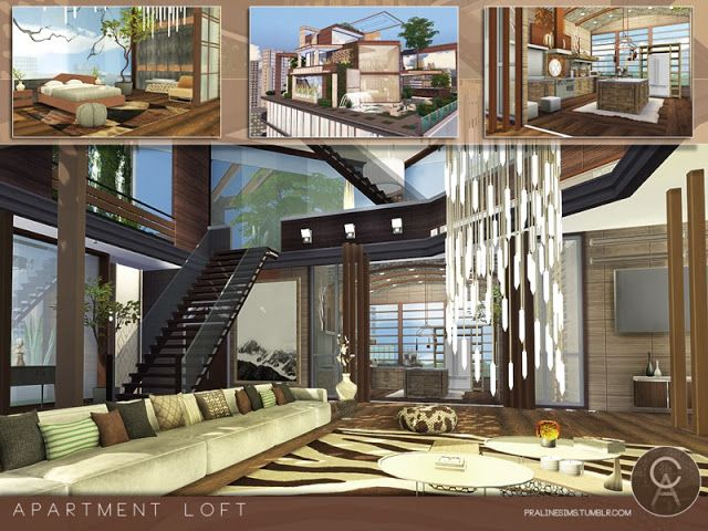 Sims 4 CC\'s - The Best: Apartment Loft by Pralinesims | Sims ...