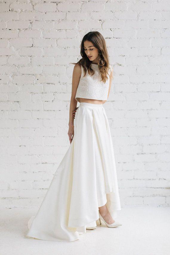 Bridal Crop Top, Wedding Top ,Bridal Separates , Bridal Lace Top ...