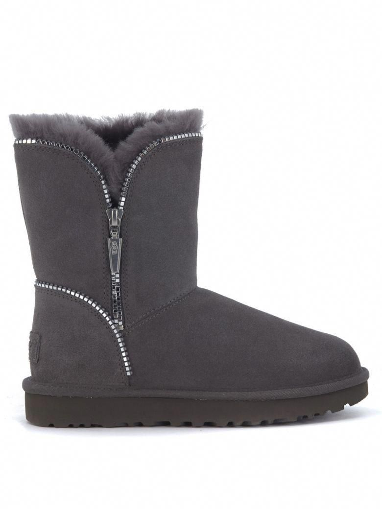 b76bd39565c UGG Ugg Florence Ankle Boots In Grey Suede With Zip. #ugg #shoes ...