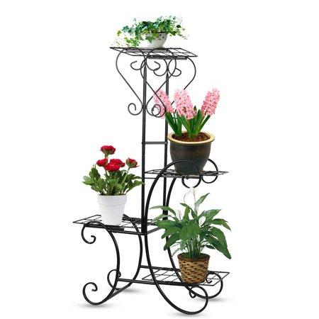 VINTAGE plants flower stand corner shelf pedestal outdoor garden decoration