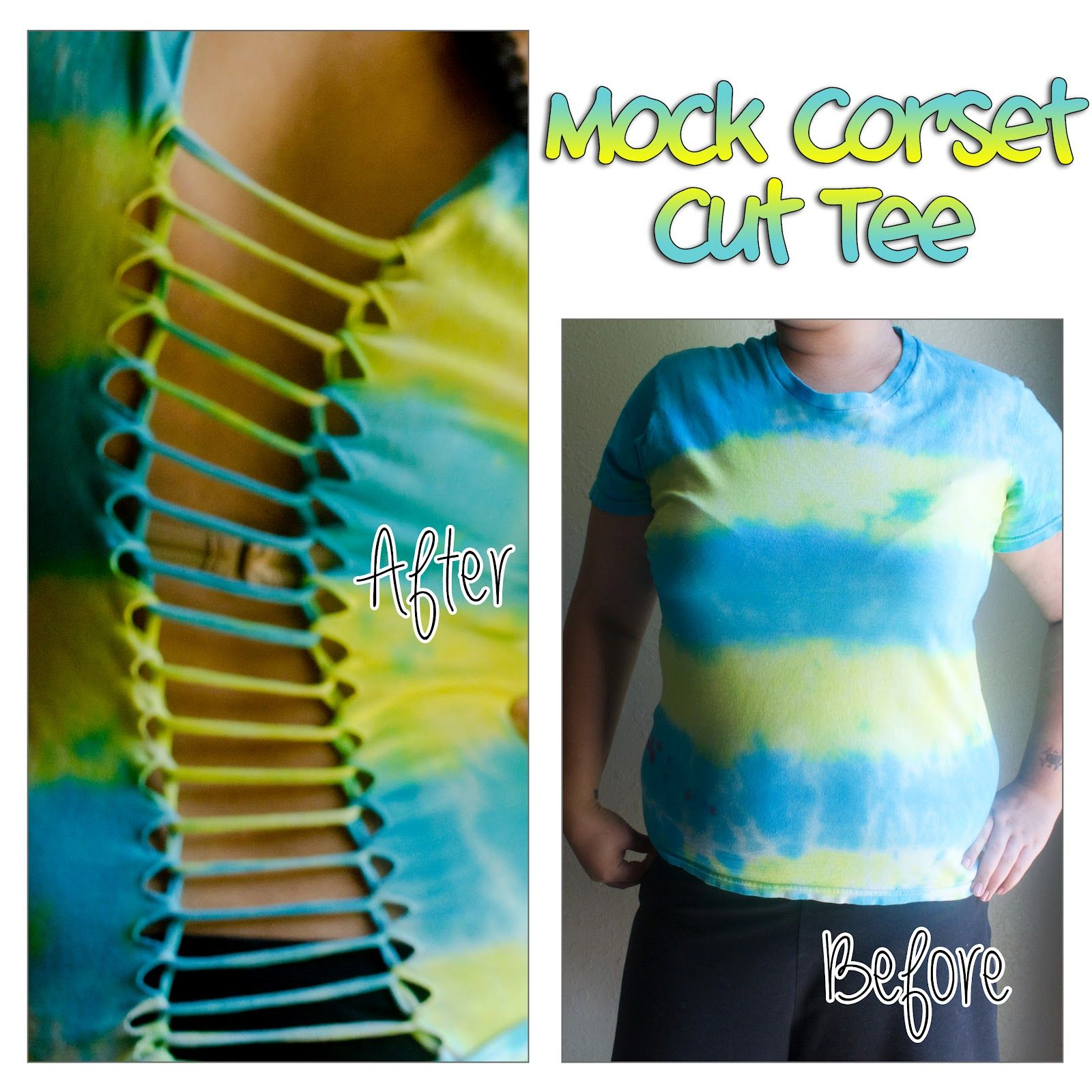 Cute ways to cut a t shirt call it a mock corset for Ways to design t shirts