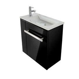 Meuble lave-mains Seymour Noir,Plan vasque lave-mains Seymour casto ...