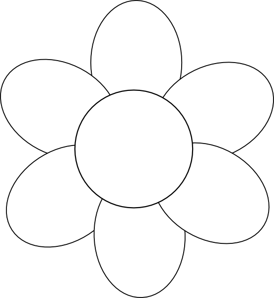Flower template free printable google search applique templates pinterest free for Google outline template