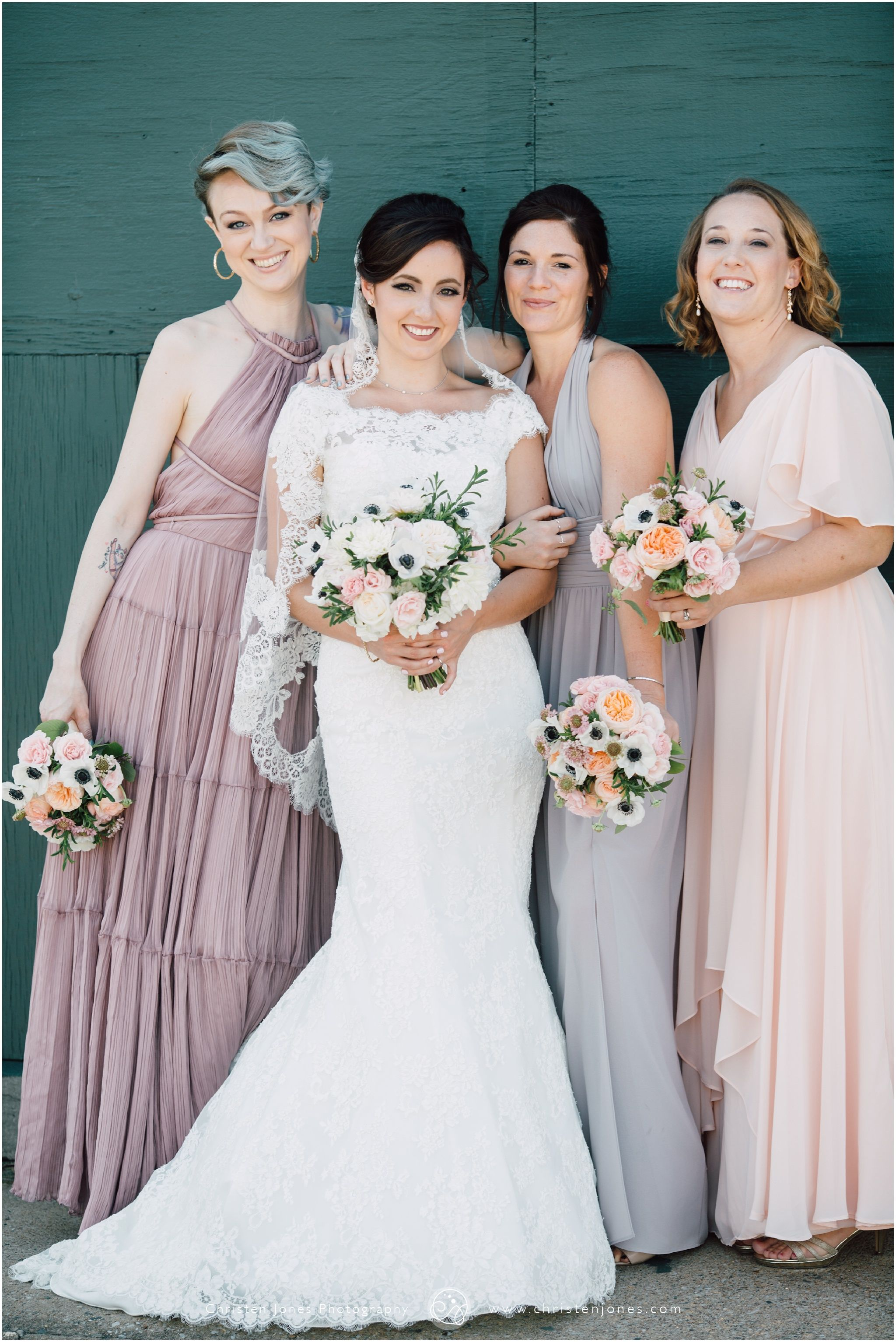 Lace veil bridal wedding party colors bridesmaid colors lace veil bridal wedding party colors bridesmaid colors pastel rose grey ombrellifo Gallery