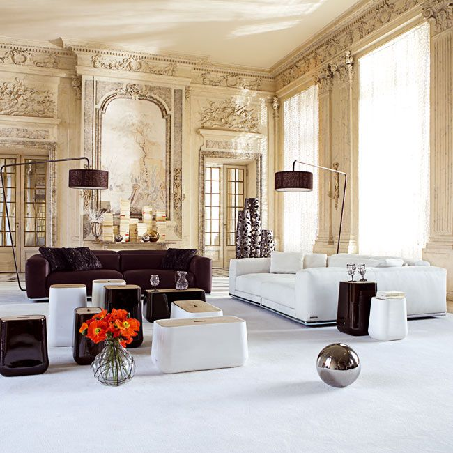 On Contemporary Furniture By Roche Bobois Inside Traditional Walls Modern Interiors