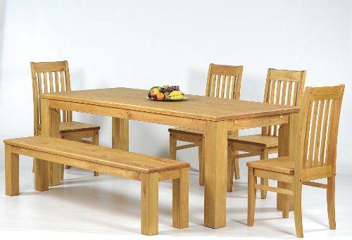 Sitzgruppe Garnitur mit Esstisch 140x90cm + 4 Stühle Klassic + 1 - küchentisch mit stühlen
