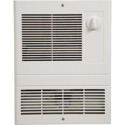 Broan 1 000 Watt Wall Insert Electric Fan Heater With Adjustable Thermostat 9810wh Broan 9810wh Spaceheaters Wall Fans Electric Fan Fan