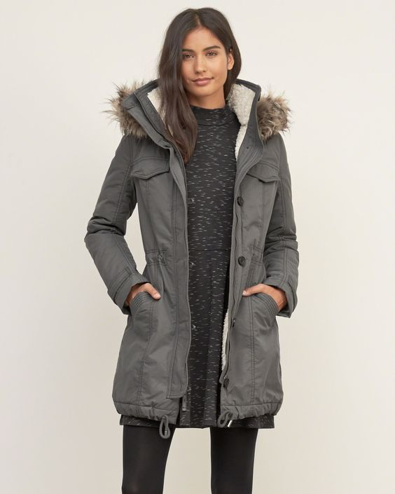 17 Ways to Style Your Parka Outfits | Parka outfit, Gray jacket ...