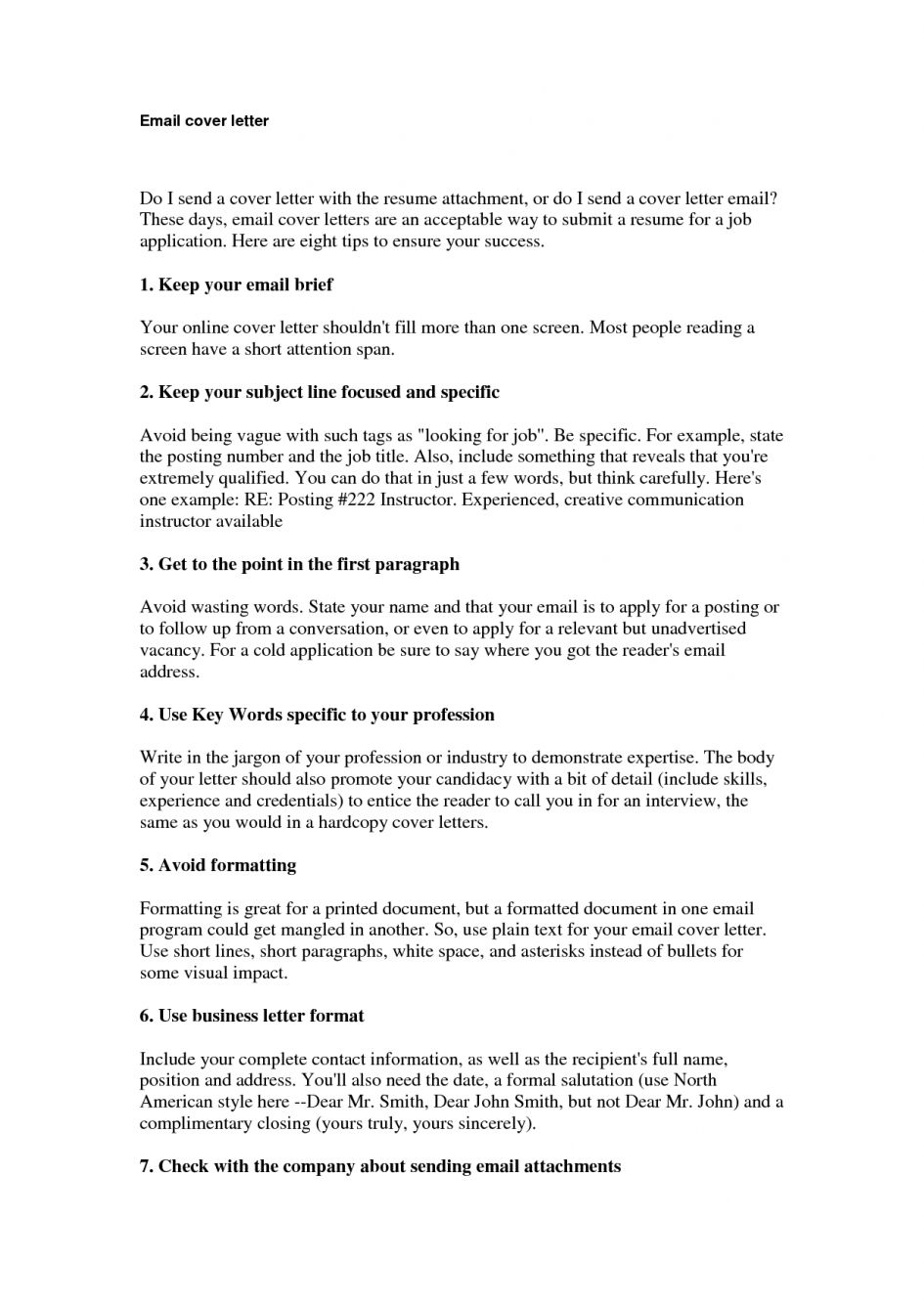 cover letter through email for jobs examples throughout sample cover letter through email for jobs examples