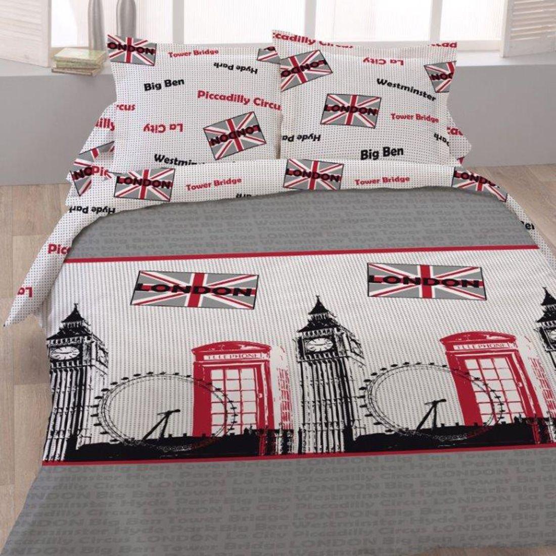 Set Bettbezug Piccadilly 2 Kissenbezuge Bedruckt Bettbezug